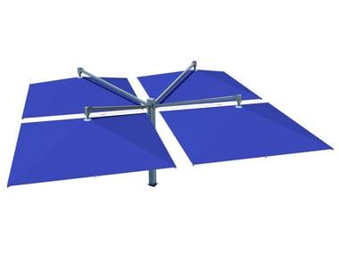 Adjustable double offset acrylic Garden umbrella AMALFI QUADRO | Offset Garden umbrella