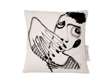 Square linen cushion AMARCORD I