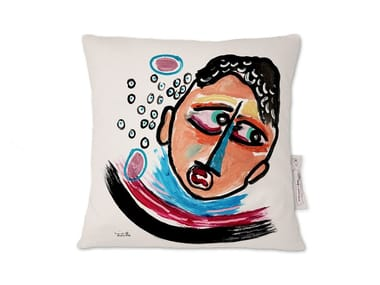 Square linen cushion AMARCORD XI