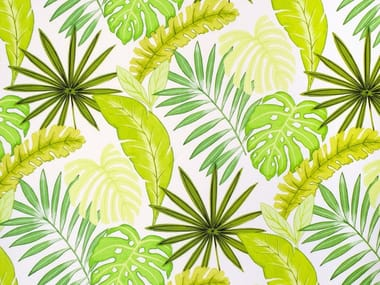 Printed linen fabric AMAZON FOREST
