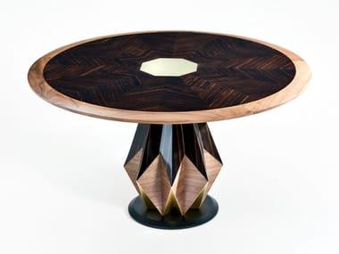 Round ebony table ANICE