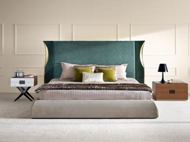Double bed with upholstered headboard VETIVIER