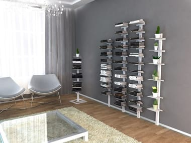 Open wall-mounted bookcase AMBROGIO | Wall-mounted bookcase