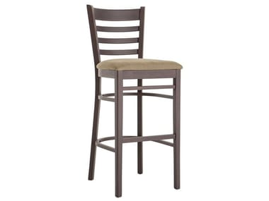High beech stool with back AMERICA 491A.i2
