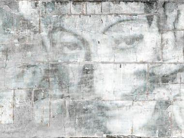 Papel de parede impermeável de tecido não tecido com efeito de parede AMMALIAMI