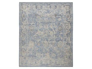 Handmade custom rug ANCIENT VIRUSH K32 LT BLUE