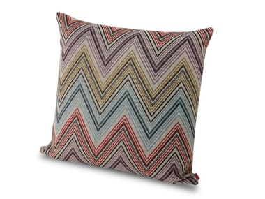 Cuscino in tessuto jacquard a sofisticate geometrie chevron ANDAMANE   Cuscino