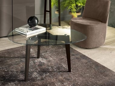 Wood and glass coffee table ANDREA | Coffee table