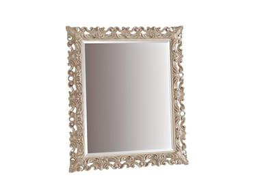 Rectangular framed wall-mounted mirror ANGELICA 120X140 | Mirror