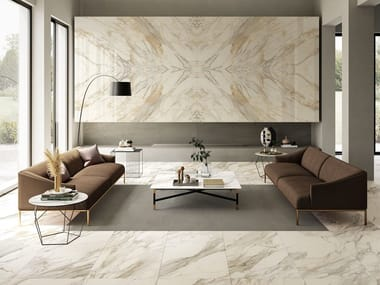 Porcelain stoneware wall/floor tiles with marble effect ANIMA EVER APUAN GOLD