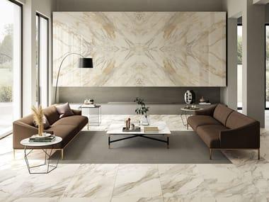 Revestimiento de pared/suelo de gres porcelánico efecto mármol ANIMA EVER APUAN GOLD