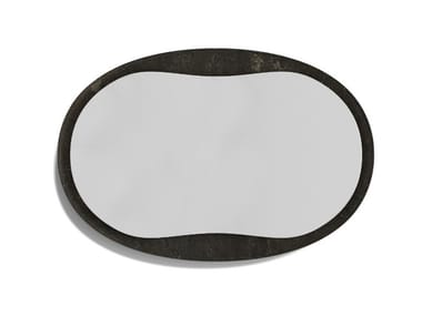 Oval framed stone mirror ANIMA | Oval mirror