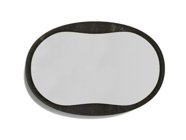 Espelho oval moldurado de pedra ANIMA | Espelho oval