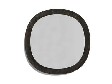 Round framed stone mirror ANIMA | Round mirror