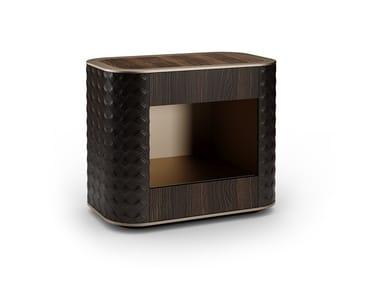 Comodino laccato rettangolare in legno con cassetti SAN MARCO | Comodino