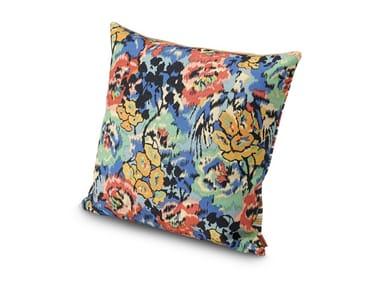 Cuscino in tessuto misto cotone-lino double a patchwork ANNAPOLIS | Cuscino