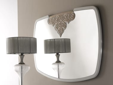 Framed wall-mounted mirror with integrated lighting ANNIVERSARY | Mirror with integrated lighting