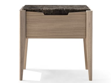 Walnut bedside table with drawers ANNIVERSARY | Walnut bedside table
