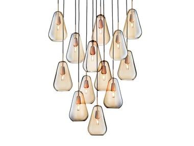 Blown glass pendant lamp ANOLI 13
