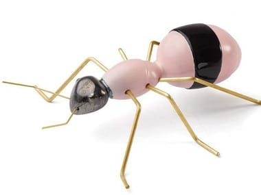 Contemporary style ceramic decorative object ANT ROSE