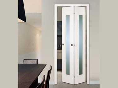 Folding lacquered wooden door ANTARES | Folding door