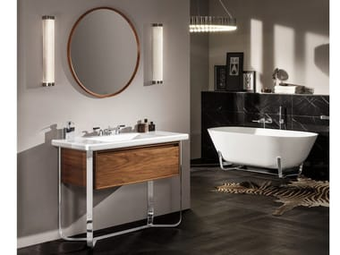Wooden vanity unit ANTHEUS | Wooden vanity unit