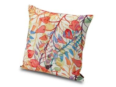 Cuscino in tela stampata, motivo ramage floreale ANTIBES | Cuscino