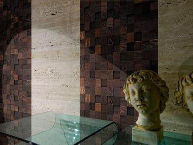 Mosaico con superficie tridimensionale in wengè ANTICO ASOLO MOSAICI | Mosaico con superficie tridimensionale in wengè