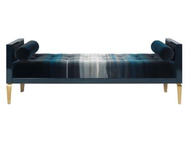Tufted upholstered velvet bench ANTOINETTE
