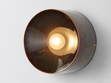 Applique a LED in ceramica ANTON CERAMIC BROWN