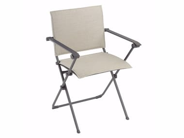 Folding garden chair with armrests ANYTIME | Chair with armrests