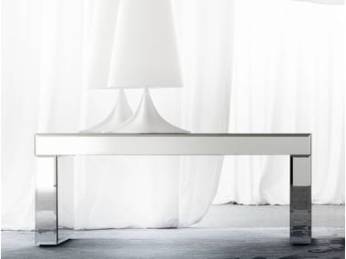 Rectangular mirrored glass console table APHRODITE