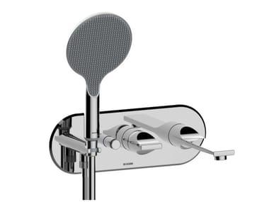 Mitigeur de baignoire mural en ABS avec douchette APICE | Mitigeur de baignoire