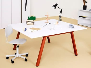 Workstation desk with cable management APOLLO | Office desk with cable management