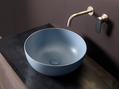 Countertop round ceramic washbasin APP | Round washbasin