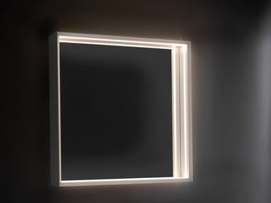 Square wall-mounted mirror with integrated lighting APP | Square mirror