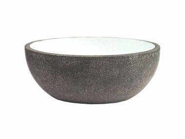 Countertop oval lava stone washbasin AQ2