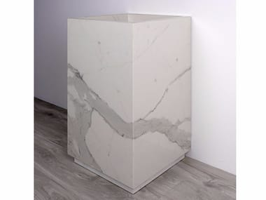 Freestanding porcelain stoneware washbasin AQUA MAXIMUM | Washbasin
