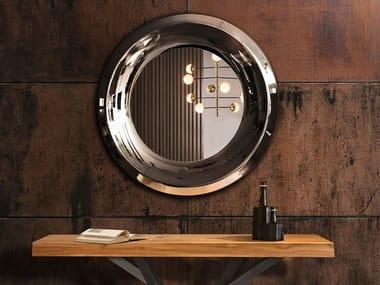 Espelho redondo moldurado de parede AQUA | Espelho redondo