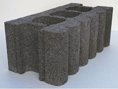Sound-absorbing concrete block AR25 | Sound absorbent concrete masonry block