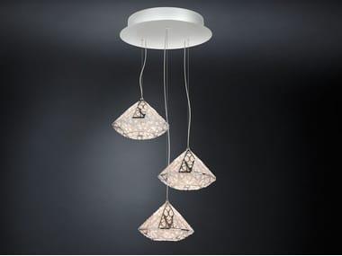 LED steel pendant lamp with crystals ARABESQUE DIAMOND | Pendant lamp