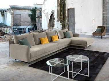 Fabric sofa with chaise longue ARAKI | Sofa with chaise longue