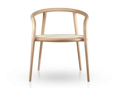 Beech chair with armrests ARANHA | Beech chair
