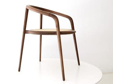 Chair with armrests ARANHA | Walnut chair
