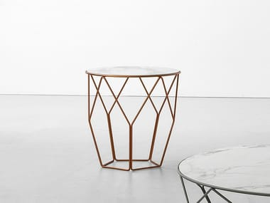 Round ceramic high side table ARBOR   High side table
