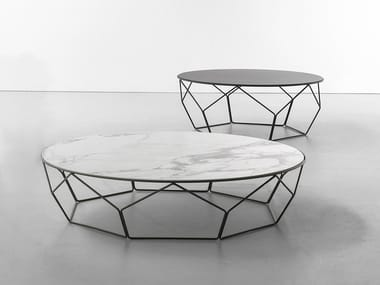 Low round ceramic coffee table ARBOR | Low coffee table
