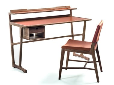 Wooden secretary desk with drawers ARCHÈ | Secretary desk