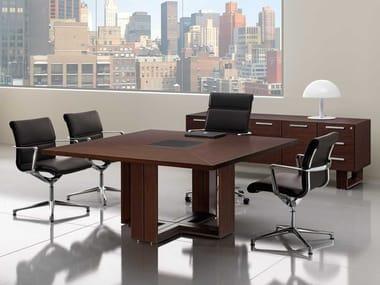 Tavolo da riunione quadrato in wengè ARCHE | Tavolo da riunione in wengè