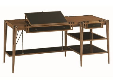 Solid wood writing desk with drawers ARCHIMEDE | Writing desk