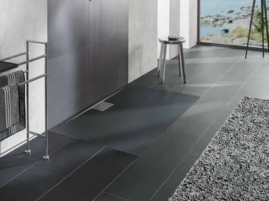 Flush fitting extra flat acrylic shower tray ARCHITECTURA METALRIM